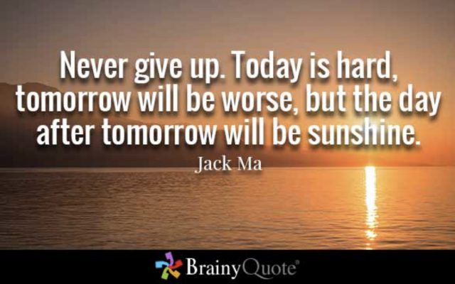 The Best Quotes On Never Giving Up Truly Inspirational Sunny