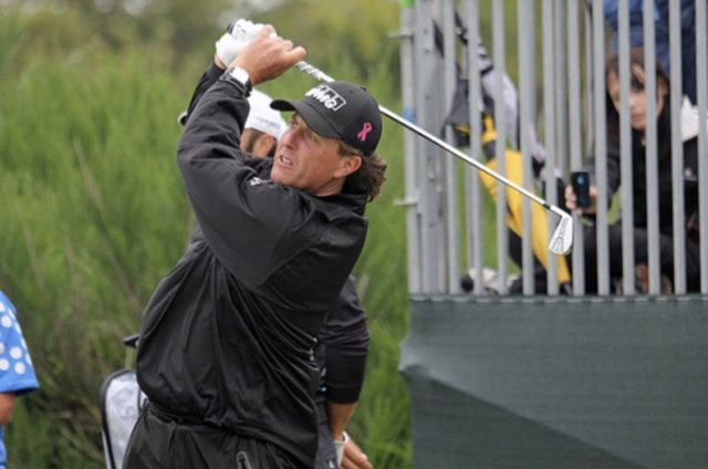 Phil Mickelson Golfing